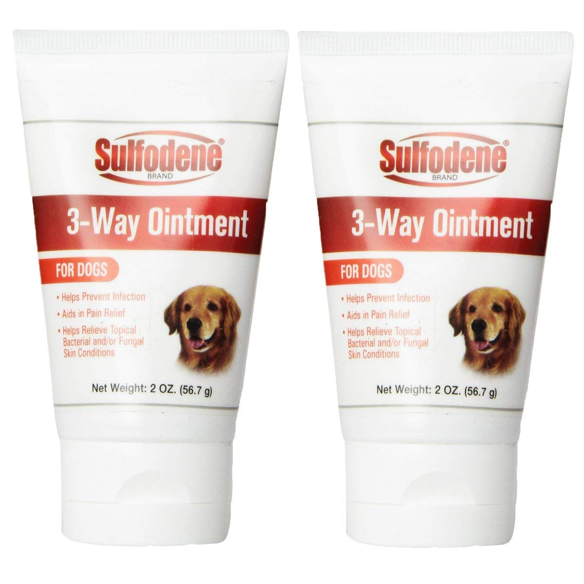 Sulfodene 3-Way Ointment for Dogs (2-Pack, 4oz) by Sulfodene