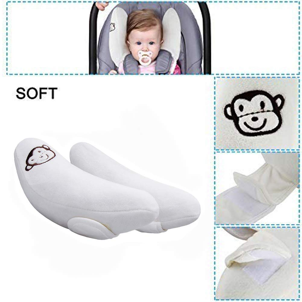 Soft Travel Head and Neck Support for Bbay Toddler and Infant Adjustable Baby Car Seat Cushion