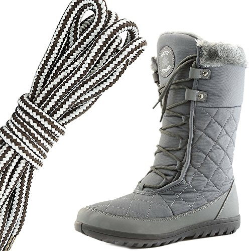 Dailyshoes Confort Des Femmes Bout Rond Mi-mollet Cheville Plat Haute  Eskimo Fourrure Dhiver Bottes