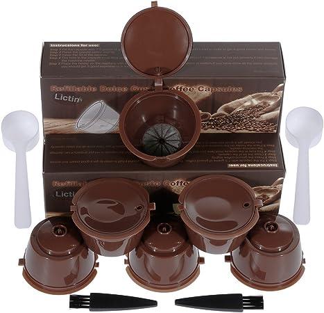 Cápsulas de café reutilizables - Lictin Dolce Gusto Cápsula - Cápsula de repuesto para cafeteras Circolo, Genio, Mini Me, Mini, Piccolo, Esperta 6 Pack Braun: Amazon.es: Hogar