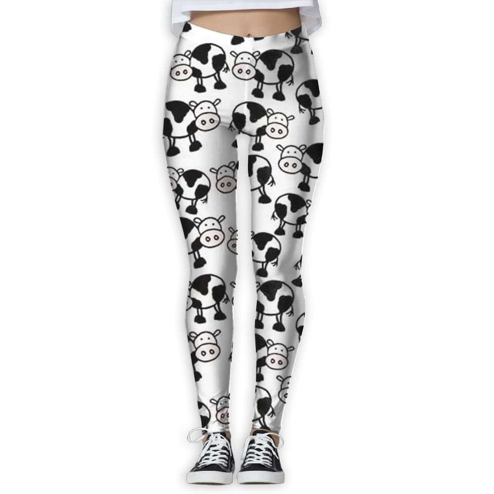 Gask-L Little Cow Women's Yoga Workout Running Legging Pants