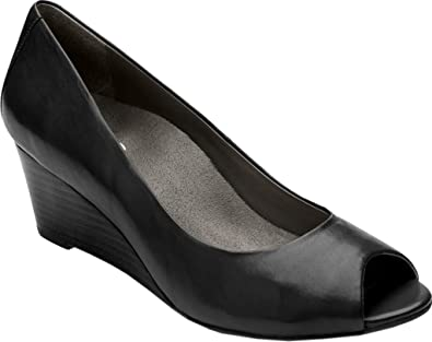 Vionic with Orthaheel Technology Bria Peep-Toe Wedge (Women's) 5zPT9dUo7