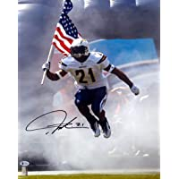 $69 » LaDainian Tomlinson Autographed 16x20 Photo San Diego Chargers In Black Beckett BAS Stock #131277