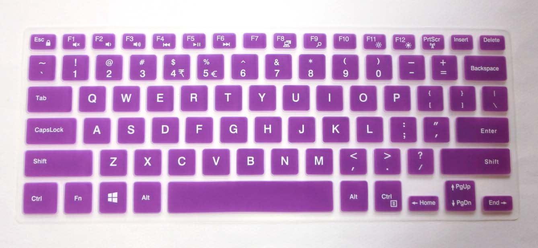 US Layout semi-Purple Keyboard Protector Skin Cover for Dell Inspiron 14-3442, 14-3446, 14-3447, 14-3451, 14-5447, 14-5448, 14-5458, 14-7447, 15-7558, i3442, i3446, i3447, i3451, i5447, i7447, i7558