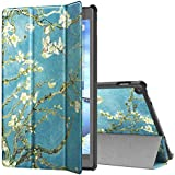 "TiMOVO All-New Fire HD 10 Case (7th Generation, 2017 Release) - Ultra Lightweight Slim Shell Stand Cover Case with Auto Wake/Sleep Function for Amazon Fire HD 10.1"" Tablet, Almond Blossom"