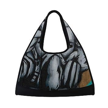 7e228389e94b Bennigiry Masked Woman Print Gym Bag
