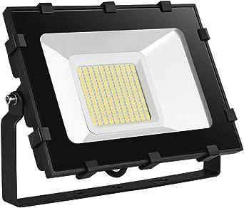 Viugreum 100W Foco LED Exterior, LED Floodlight 12000LM, 3200k ...