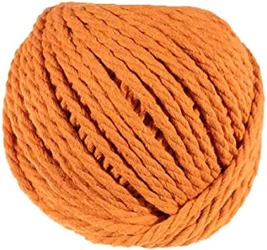 Handmade Macram/é 3mm Diameter and 50 Meter Length Colorful Cotton Rope Spools Soft to The Touch Great for DIY Crafting