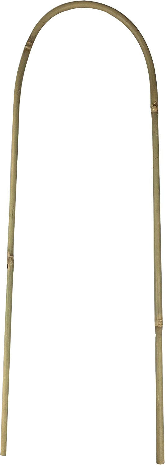 Bamboo U Trellis Hoop Stakes for Plant Support Flee 19 in 6-Pack