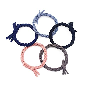 Three Pack Classic Woven Hair Scrunchie Bobbles Hair Band Accessory