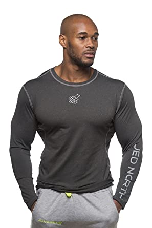 5ad53742b402 Jed North Men's Bodybuilding Workout Long Sleeve Tee Slim Fit T Shirt for  Gym Black at Amazon Men's Clothing store: