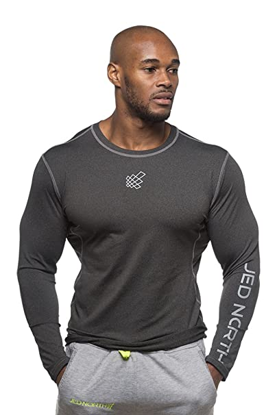 13544cd2 Jed North Men's Bodybuilding Workout Long Sleeve Tee Slim Fit T Shirt for  Gym Black: Amazon.ca: Clothing & Accessories