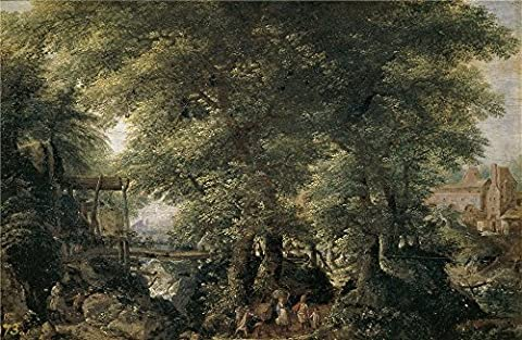 Oil Painting 'Stevens Pieter II Paisaje Frondoso ' Printing On Polyster Canvas , 18 X 28 Inch / 46 X 70 Cm ,the Best Powder Room Gallery Art And Home Gallery Art And Gifts Is This High Quality Art Decorative Canvas - Alfred Gockel Flowers