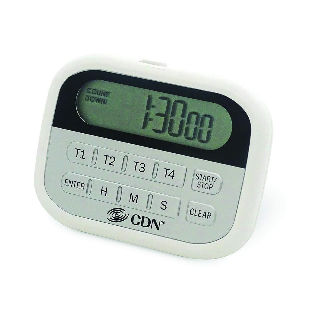 Component Design Northwest PT2 4-Event Clock Digital Timer, White