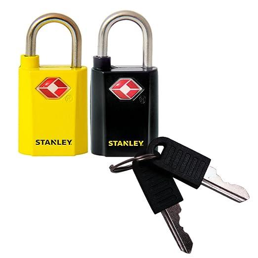 255 opinioni per Stanley 2 Lucchetti da Viaggio Con Chiave Tsa (Travel Sentry Approved) 20 mm,