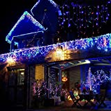 NOVADEAL 110V 3.5M/11ft 96 LED Linkable Fairy Curtain String Light with 8 Modes For Indoor/Outdoor/Garden/Patio/Christmas Party Holiday Decoration - Multi Color