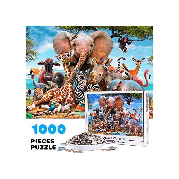 61OqZkJjBiL Calidad premium: hecho de papel grueso y resistente, cada pieza del rompecabezas se corta con precisión, lo que garantiza la estabilidad de los rompecabezas. Impreso en papel grueso con una prensa de impresión digital de alta gama garantiza: precisión del color, imágenes duraderas. Hazlo memorable --- Construir este rompecabezas de 1000 piezas juntos puede convertirse en una nueva tradición familiar, rompecabezas de 1000 piezas o enmarcarlo y convertir esta pieza en una obra de arte permanente para agregar a la decoración de tu casa. Promueve la coordinación mano-ojo --- Nuestro rompecabezas de piso calma la mente e induce un estado de meditación creativa. Diseñado para ayudar a las personas a desarrollar sólidas habilidades para la resolución de problemas, ayudándoles en el desarrollo de la coordinación ojo-mano.