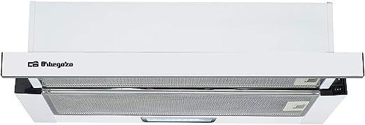 Orbegozo TL 07160 BL – Campana extractora, 60 cm, 2 bombillas LED, extracción 308.2 m3/h, 2 niveles de potencia, 65 W: Amazon.es: Hogar