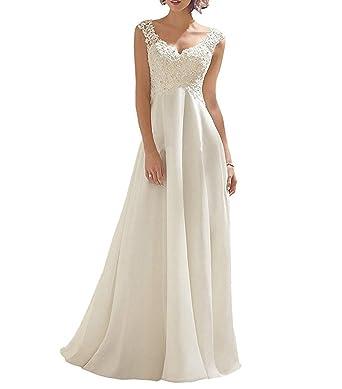 Vweil Vintage Vestidos de Novia Cap Sleeves Chiffon Lace Bridal Wedding Dresses VD67