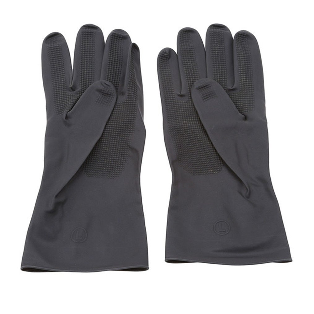 Edtoy Black Hair Dyed Perm Shampoo Gloves Insulation Anti-scalding, Hairdressing Thick Latex Non-slip Tools (L)