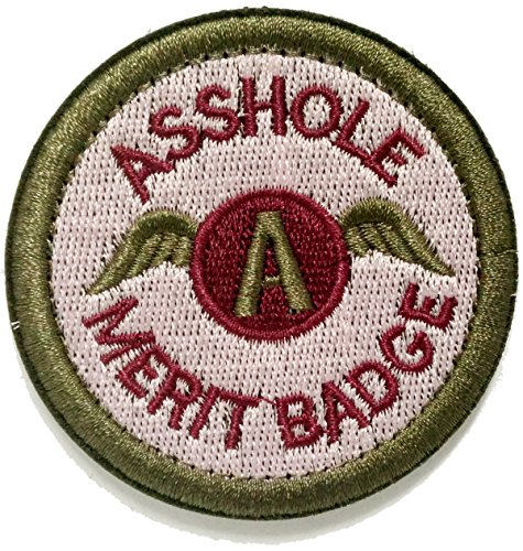 WZT Asshole Merit Badge Morale - Tactical Patch (green)