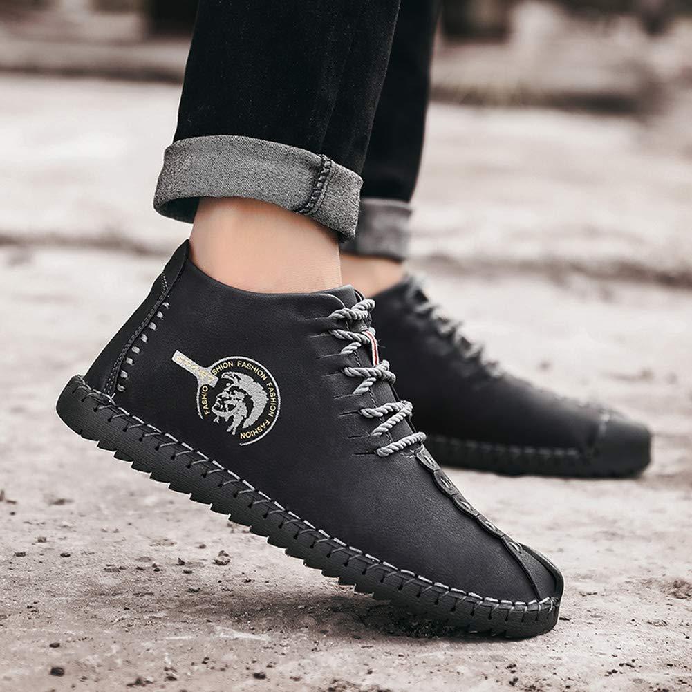 Uirend Cuero Zapatos Hombre - Mocasines Oxfords Zapatillas Zapato Negocio Vestir Espacio de Trabajo Cuero Partido Casuales Bajos de Bandas Negro: Amazon.es: ...