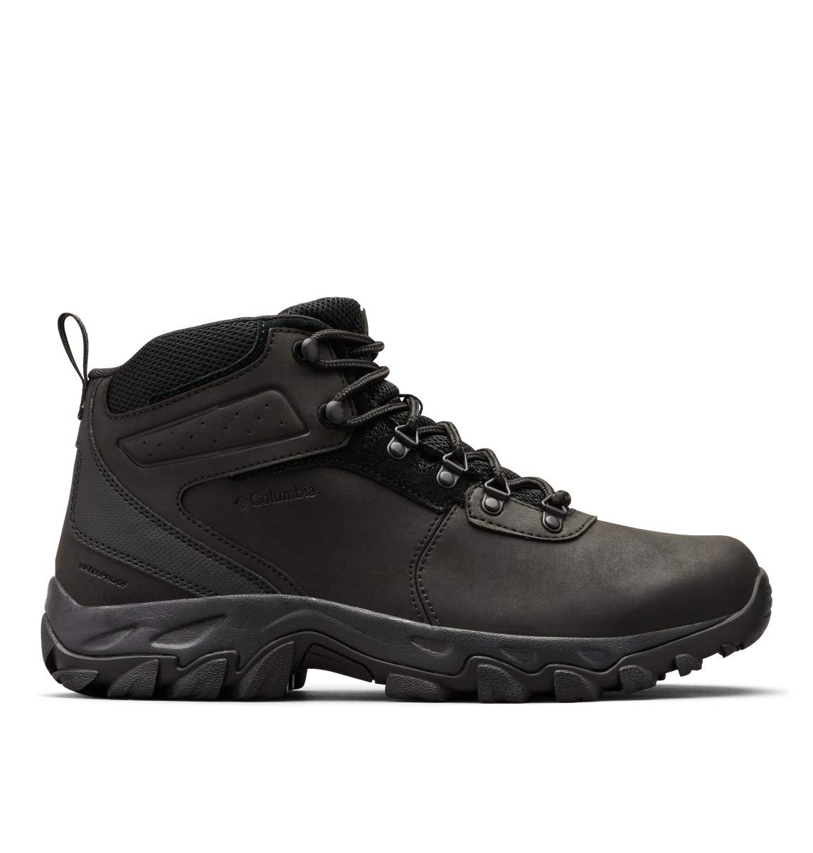 Columbia Men's Newton Ridge Plus II Waterproof Hiking Boot-Wide, Black, 9 Regular US