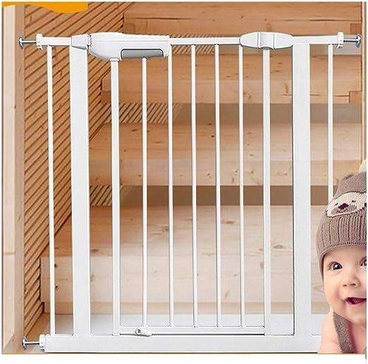Valla Extensible Infantil Niño Rieles De Protección De Seguridad Door Bar Escaleras De Mascotas Presión De Aislamiento De La Puerta De Cierre Automático Monte (Color : High76cm , Size : 115-123cm) : Amazon.es: Hogar