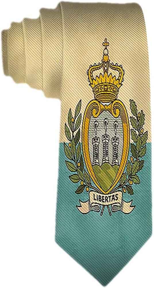 Corbata vintage de la bandera de San Marino para hombre Corbata de ...