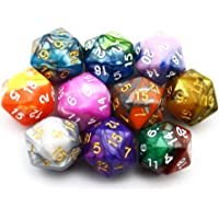 SmartDealsPro 10-Pack Two Color 20 Sided Dice D20 Polyhedral Dice for DND RPG MTG Table Games