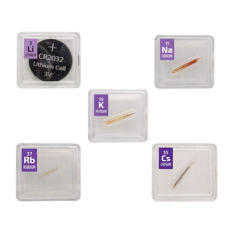 Rubidium Metal Element 15 mg ampoule 99.9/% Pure Element Sample in a Mini PEGUYS Periodic Element Tile