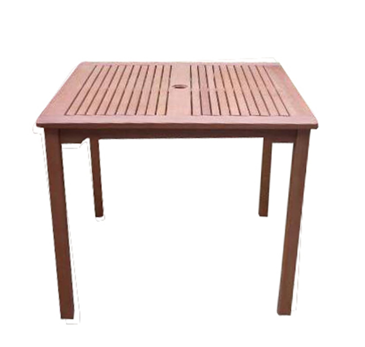 Outdoor wood furniture - Amazon Com Vifah V1104 Ibiza Outdoor Wood Stacking Table Natural Wood Finish 35 1 2 By 35 4 By 29 1 2 Inch Patio Dining Tables Patio Lawn Garden