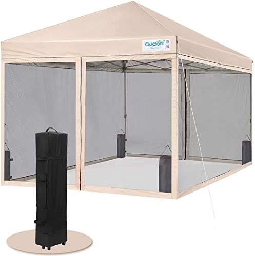 Quictent 10×10 Easy Pop up Canopy Tent Screened