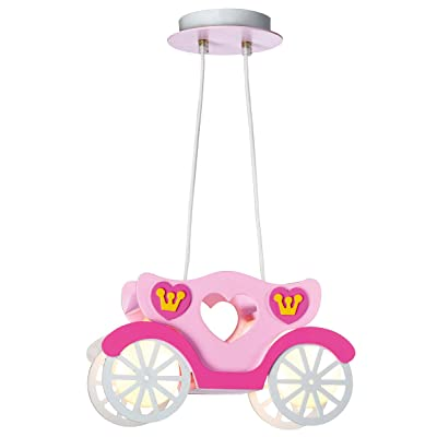 purelu metm Kinder Lampe de Plafond Lampe Heart Filles hänge Chariot, colorée