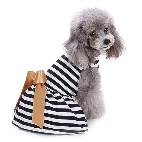 CLLUZU Vestido de Boda para Perros Arco Vestido de Princesa Ropa ...