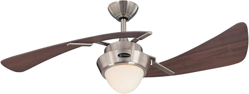 Westinghouse Lighting 7231100 Harmony Indoor Ceiling Fan with Light, 48 Inch, Brushed Nickel