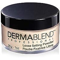 Dermablend Loose Setting Powder, Face Powder Makeup for Light, Medium and Tan Skin Tones, Mattifying Finish and Shine Control, 1oz