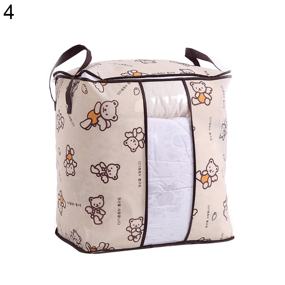 1# Colorido Non-Woven Fabric Clothes Quilt Bedding Zipper Storage Bag Pouch Holder Organizer size Large