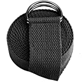 Reehut Fitness Exercise Yoga Strap (6ft, 8ft, 10ft) w/ Adjustable D-Ring Buckle for Stretching,...