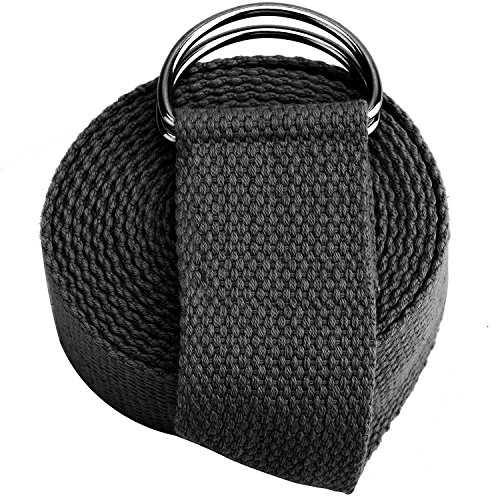 Reehut Yoga Strap (6ft, 8ft, 10ft) – Durable Cotton Exercise Straps w/ Adjustable D-Ring Buckle for Stretching, General Health, Flexibility and Physical Therapy – Sports Center Store