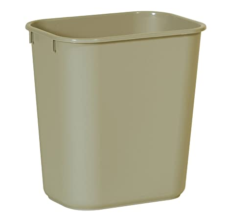 Rubbermaid Commercial Products Fg295500 Beig Plastic Resin Deskside Wastebasket, 3.5 Gallon/13 Quart, Beige (Pack Of 12) by Rubbermaid Commercial Products