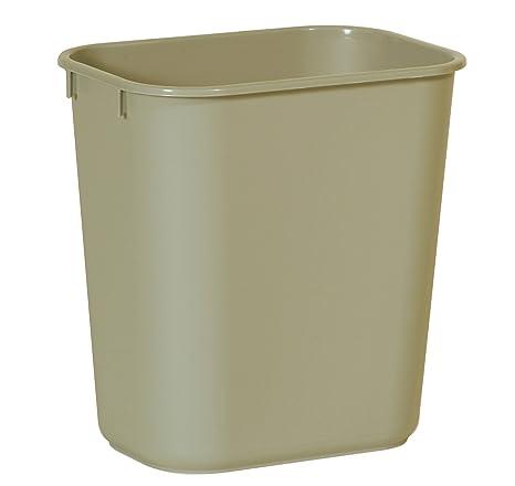 Rubbermaid Commercial Products Fg295500 Beig Plastic Resin Deskside Wastebasket, 3.5 Gallon/13 Quart, Beige (Pack Of 12) by Rubbermaid Commercial Products