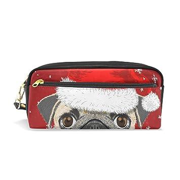 Estuche para lápices con diseño de perro de Navidad con ...