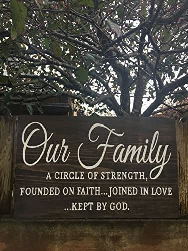 Amazon Com Our Family Bible Quote Wood Sign Bible Verse
