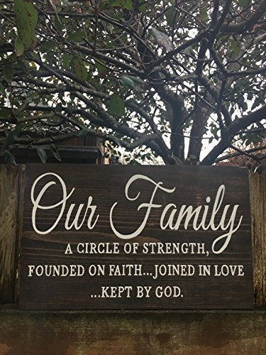 Very Amazon.com: Our family, bible quote wood sign, bible verse, family  OZ97