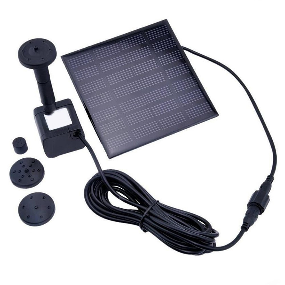 Careshine Solar Powered Fountain, Floating Water Pump Solar Panel Garden Plants Watering Power Fountain for Ponds
