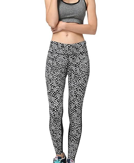 e9cc80d2ad4 Amazon.com  New Crocheted Spotted Yoga Pants Elastic Slim Quick Dry ...