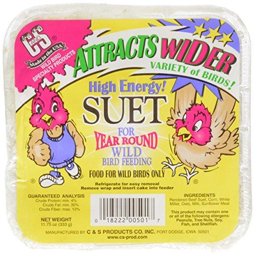 C & S Products High Energy Suet, (C&s Bird Food)