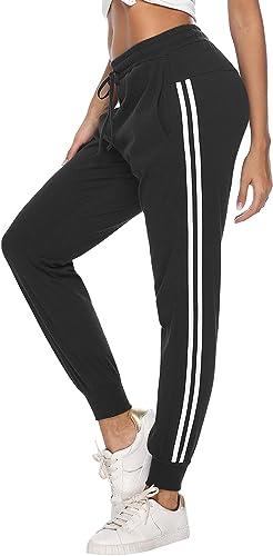 Hawiton Pantalones Deportivos para Mujer 100% Algodón Pantalón de ...