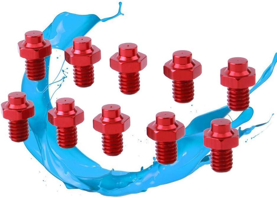 Rojo LIOOBO Accesorios de aleaci/ón de Aluminio Tornillos Antideslizantes para Pedales de Bicicleta 10PCS